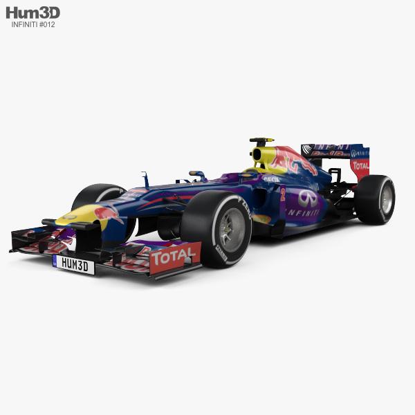 Infiniti RB9 Red Bull Racing F1 2013 3D model