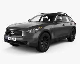 3D model of Infiniti QX70 S Ultimate 2015