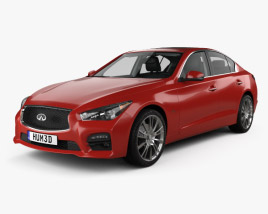 3D model of Infiniti Q50 Sport with HQ interior 2016