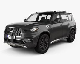3D model of Infiniti QX80 Limited 2019