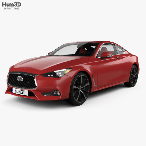 3D model of Infiniti Q60 S with HQ interior 2017