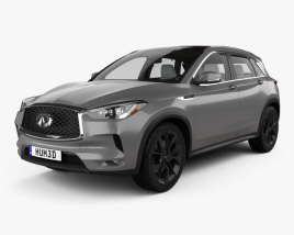 3D model of Infiniti QX50 with HQ interior 2019