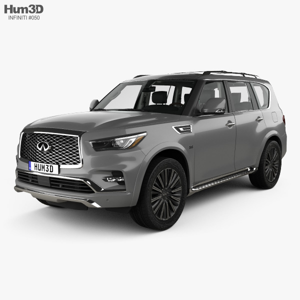 3D model of Infiniti QX80 Limited with HQ interior 2019