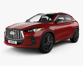3D model of Infiniti QX55 US-spec 2021