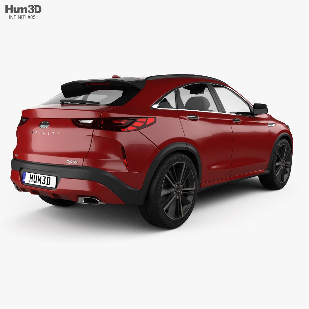 Infiniti QX55 US-spec 2021 3d model