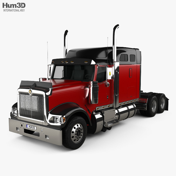 3D model of International 9900i Tractor Truck 2004