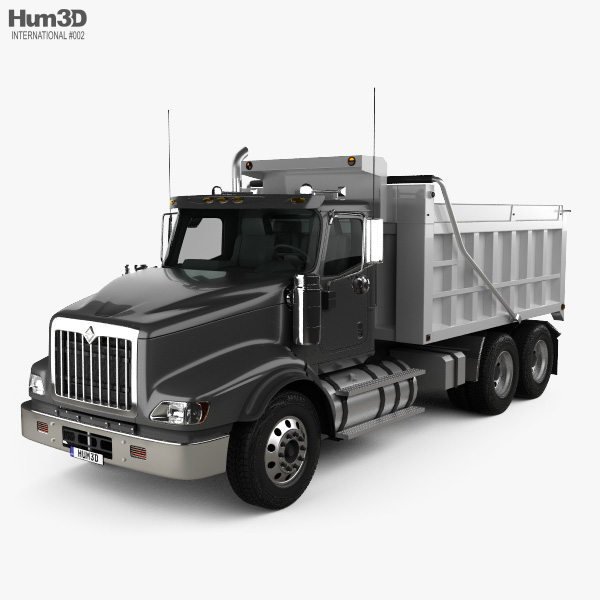 3D model of International Paystar Dump Truck 2002
