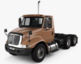 3D model of International Transtar Tractor Truck 2002