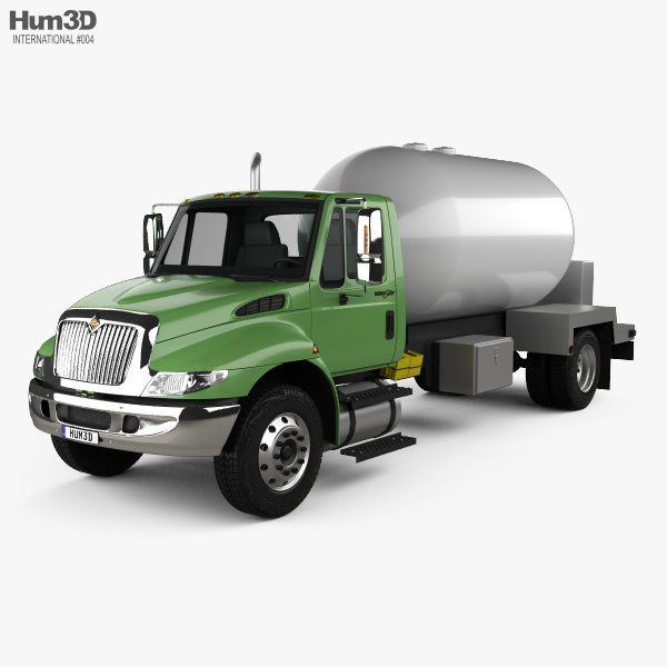 3D model of International Durastar Tanker Truck 2002