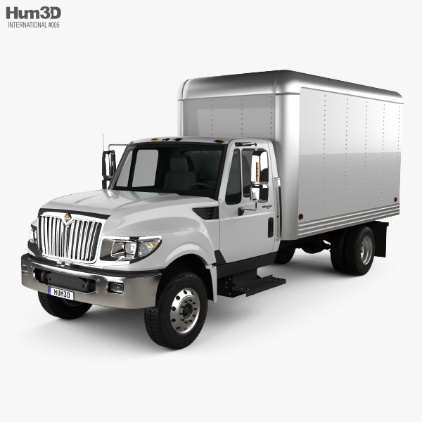 3D model of International Terrastar Box Truck 2010
