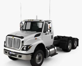 3D model of International Workstar Chassis Truck 2008