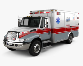 International Durastar Ambulance 2002 3D model