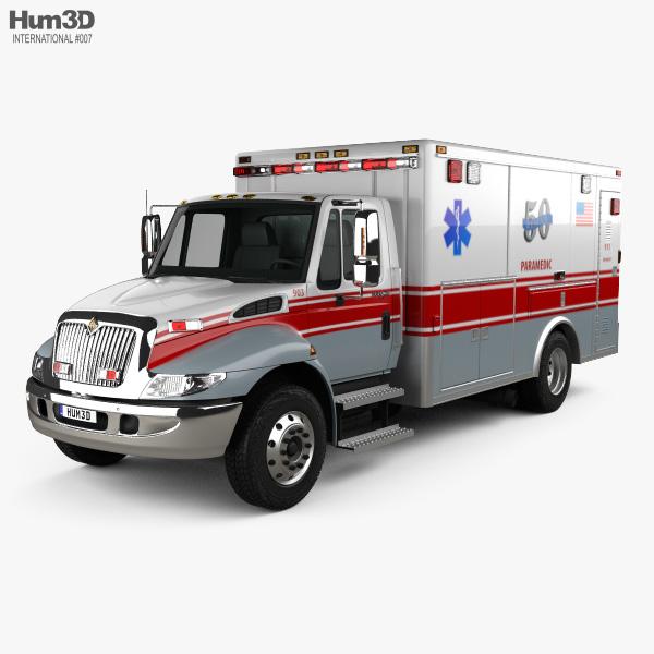 International Durastar Ambulance 2002 3D model