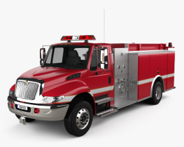 3D model of International Durastar Fire Truck 2002