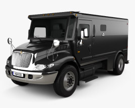 3D model of International Durastar Armored Cash Truck 2002