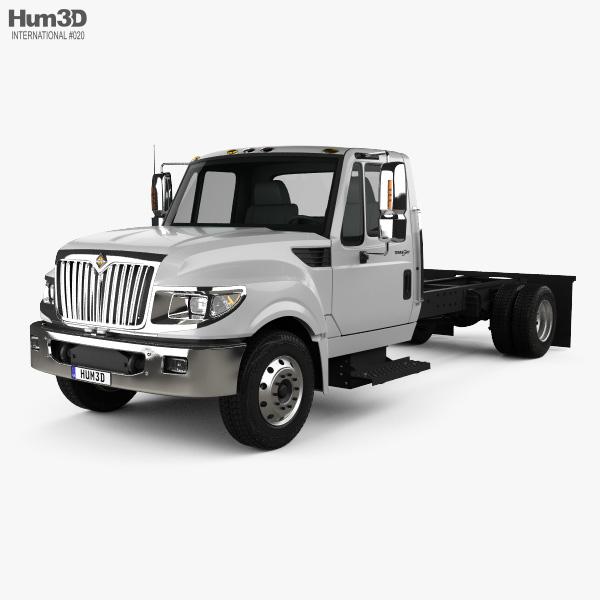 3D model of International TerraStar Chassis Truck 2010