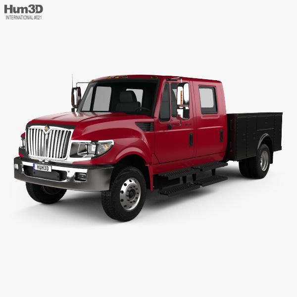 3D model of International TerraStar Double Cab Service Truck 2010