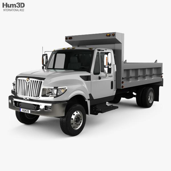 3D model of International TerraStar Dump Truck 2010
