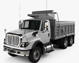 3D model of International WorkStar Dump Truck 2008