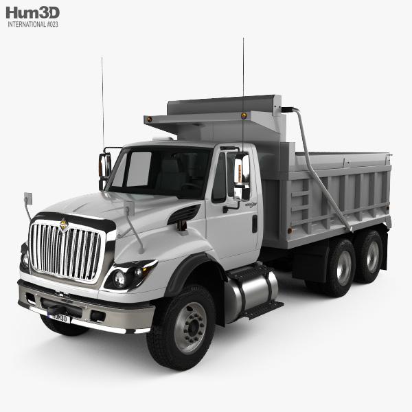 International WorkStar Dump Truck 2008 3D model