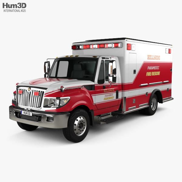 International TerraStar Ambulance Truck 2010 3D model