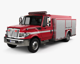 3D model of International TerraStar Firetruck 2010