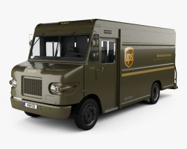 3D model of International 1552SC P70 UPS Truck 2015