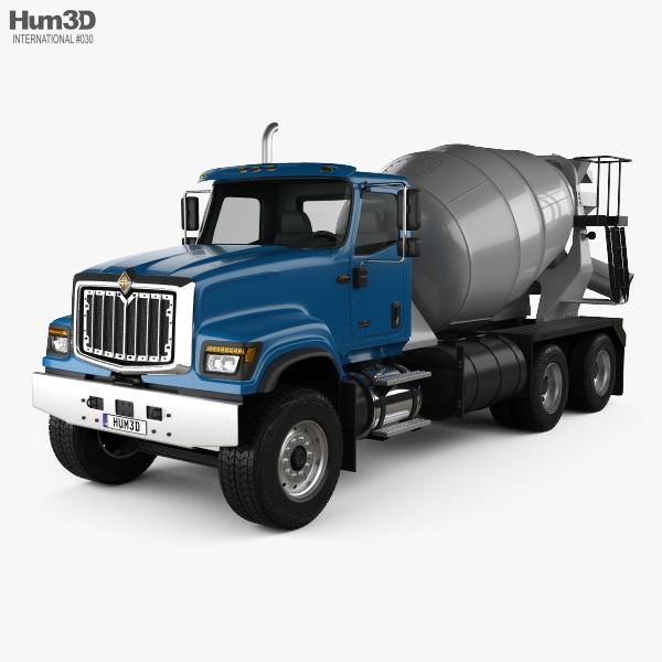 International HX515 Mixer Truck 2016 3D model