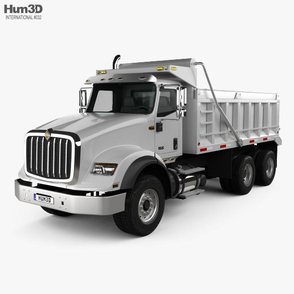 International HX615 Tipper Truck 2016 3D model