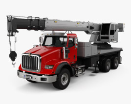 3D model of International HX620 Crane Truck 2016