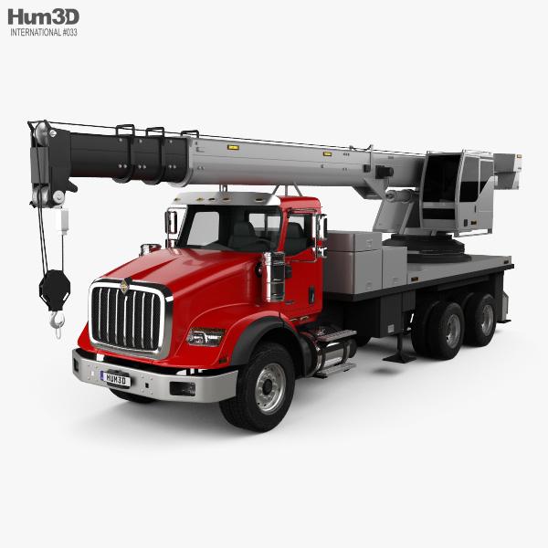 3D model of International HX620 Crane Truck 2016