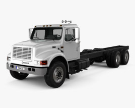 3D model of International 4900 Chassis Truck 2009