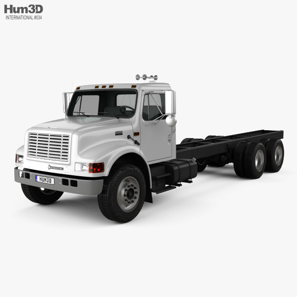 International 4900 Chassis Truck 2009 3D model