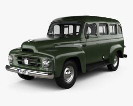 3D model of International Harvester R-110 Travelall 1953