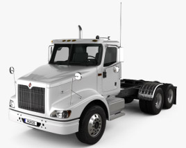 3D model of International 9200 Day Cab Tractor Truck 2009