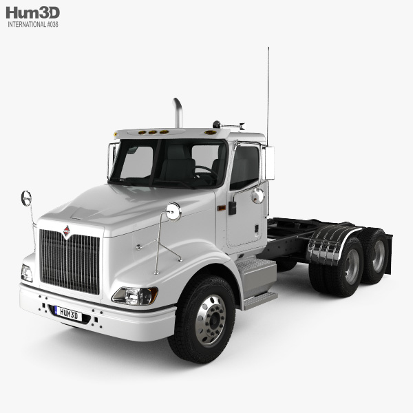 International 9200 Day Cab Tractor Truck 2009 3D model