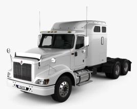International 9400 Sleeper Cab Tractor Truck 2007 3D model