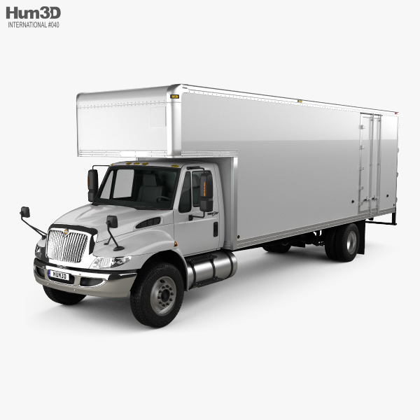 International Durastar 4700 Box Truck 2010 3D model
