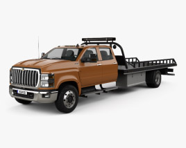 3D model of International CV Crew Cab Rollback Truck 2018