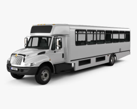 3D model of International Durastar IC HC Bus 2011