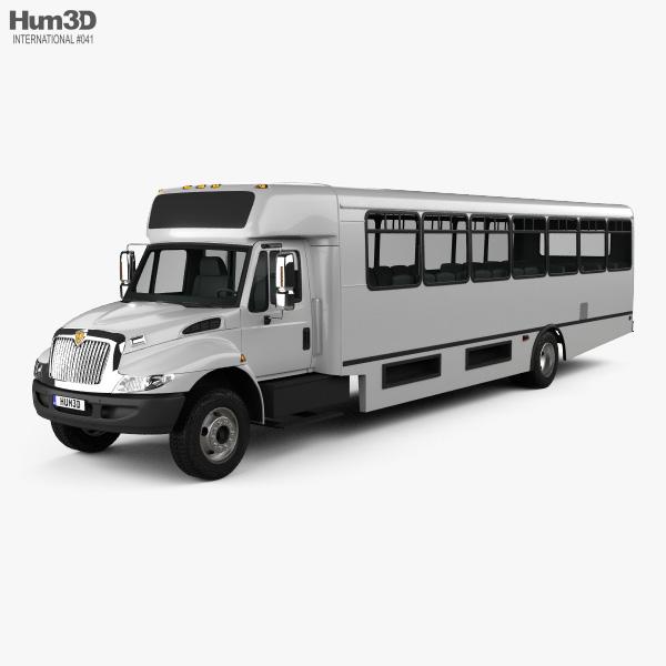 3D model of International Durastar IC HC Bus 2011
