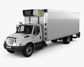 International Durastar 4300 Refrigerator Truck 2007 3D model