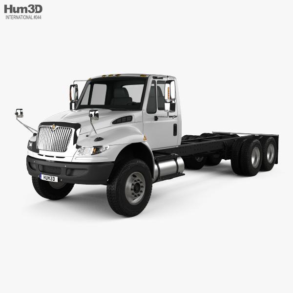 International Durastar 4400 SBA Chassis Truck 2011 3D model