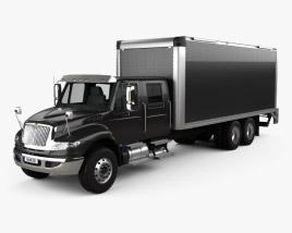 International Durastar Crew Cab Box Truck 2017 3D model