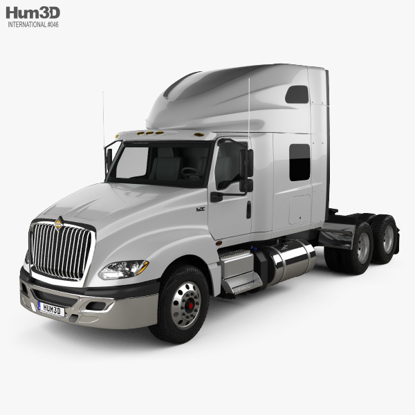 International LT Tractor Truck 2018 3D model