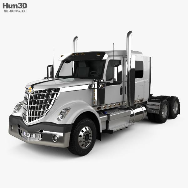 International Lonestar 56 Low Rise Sleeper Cab Tractor Truck 2008 3D model