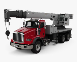 International HX620 Crane Truck with HQ interior 2016 3D model