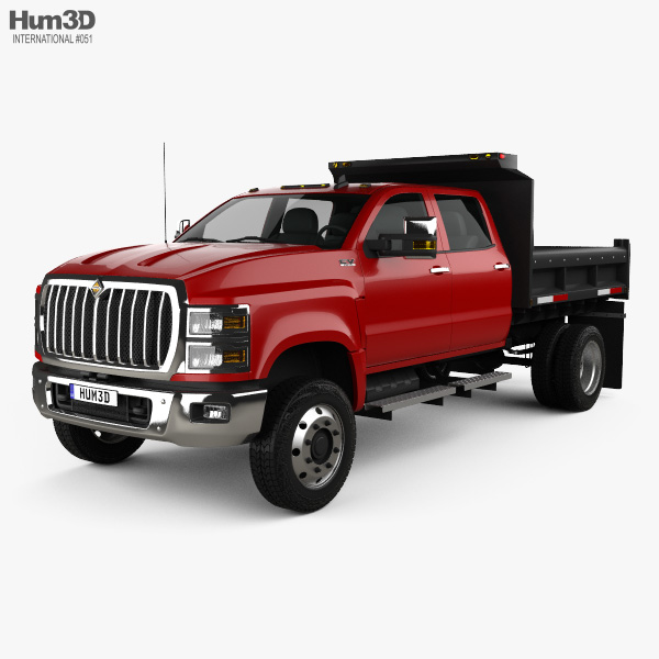 International CV Crew Cab Landscape Dump Truck 2018 3D model