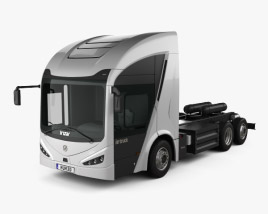 3D model of Irizar IE Truck Chassis Truck 2019