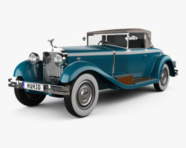3D model of Isotta Fraschini Tipo 8A Cabriolet 1924